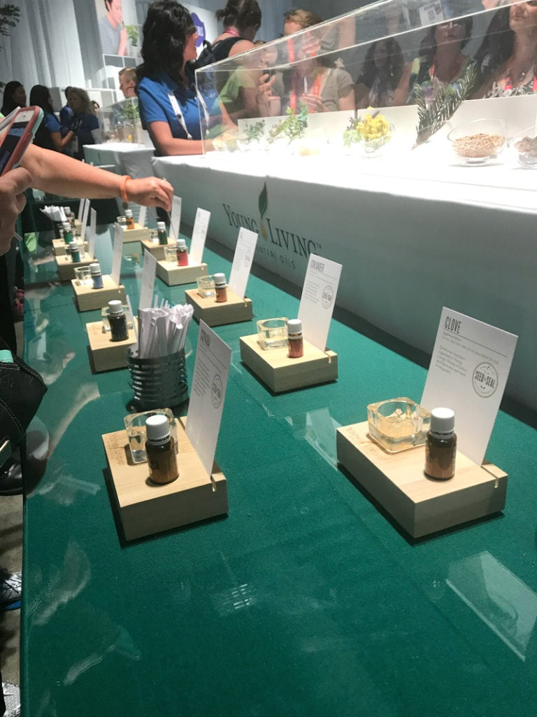 Essential oil samples at the International Young Living convention 2017