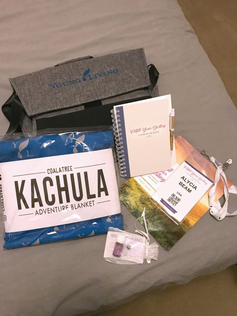 Goody bag from the 2017 International Young Living Convention
