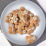 A plate of gluten free gingerbread cookies