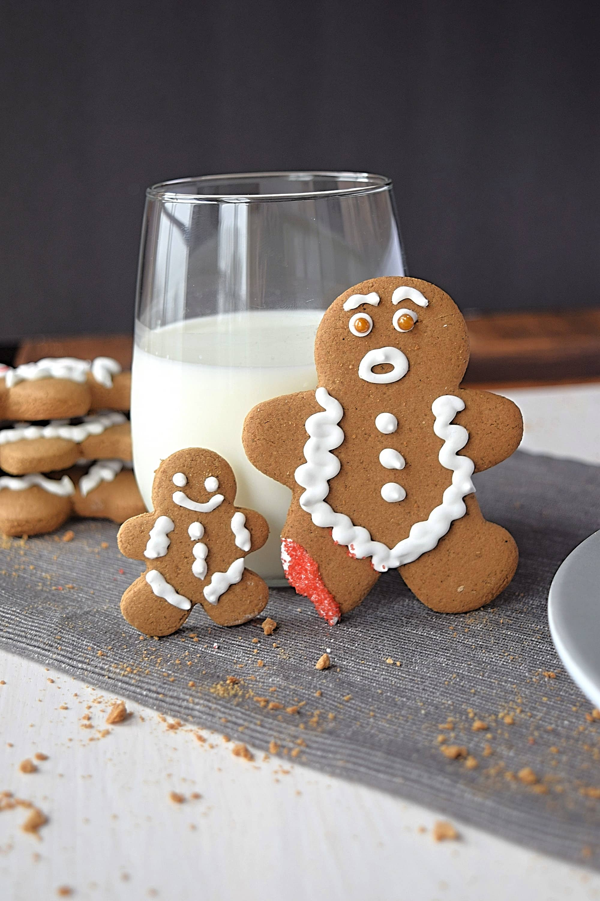 A large and a small gluten free gingerbread man - A Stray Kitchen